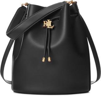 Ralph Lauren Leather Large Andie Drawstring Bag