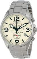 Torgoen Swiss Men's T16202 Aviation Chronograph Black Dial Stainless Steel Watch