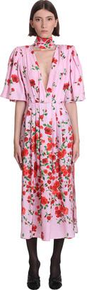 Magda Butrym Dress In Rose-pink Silk