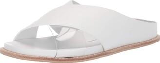Dolce Vita Women's Griff Slide Sandal White Leather 10 M US