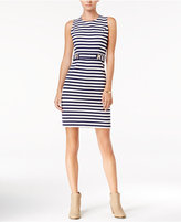 Maison Jules Striped Embellished Sheath Dress, Only at Macy's