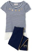 Juicy Couture Girls 4-6x) Two-Piece Stripe Tee & Leggings Set