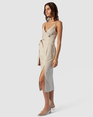 SUBOO Sandy Midi Wrap Dress