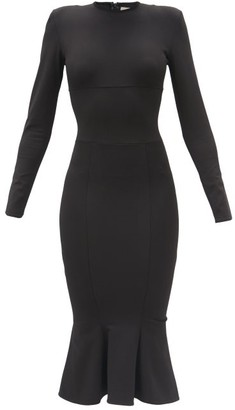 Alexandre Vauthier Fishtail-hem Long-sleeved Jersey Dress - Black