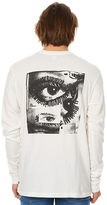 RVCA Side Eyes Ls Mens Tee White