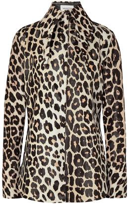 16Arlington Seymour Leopard-print Calf Hair Shirt