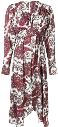 Isabel Marant printed wrap-around dress