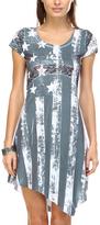 Charcoal & White Stars & Stripes Scoop Neck Dress