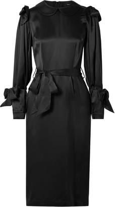Simone Rocha Bow-embellished Silk-satin Dress