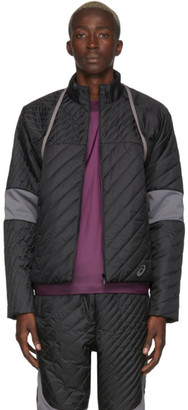 KIKO KOSTADINOV Black and Grey Asics Edition Insulated Jacket