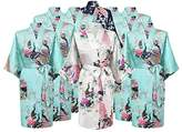 Gifts Are Blue Floral Bridal Party Bride & Bridesmaid Robe Sets