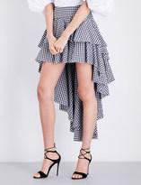 Caroline Constas Giulia ruffle cotton skirt