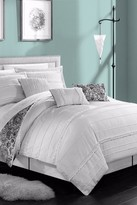 Thess 6-Piece Pleated & Ruffled Reversible Paisley Floral Print Comforter Set