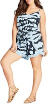 City Chic Tie Dye Playsuit