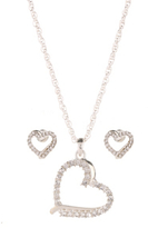 George Heart Necklace and Earrings Set