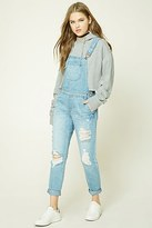 Forever 21 FOREVER 21+ Distressed Denim Overalls