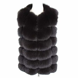 LON Women's Jacket Real Fur Coat Winter Genuine Women Short Section Warm Thick Fox Fur Coat Vests Slim Female Fur Coat Natural Fur