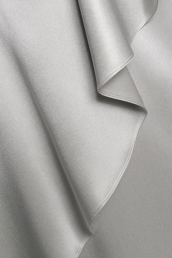 Thumbnail for your product : Cushnie Draped Silk-satin Midi Slip Dress