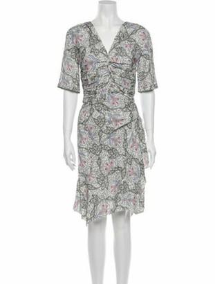 Isabel Marant Printed Knee-Length Dress w/ Tags Purple