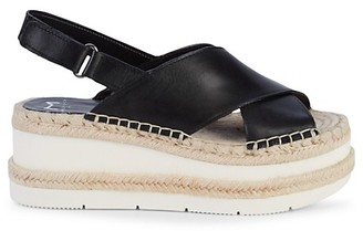 Marc Fisher Gandy Leather Wedge Sandals