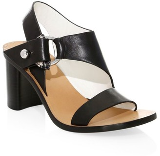 Rag & Bone Arc Block-Heel Leather Sandals