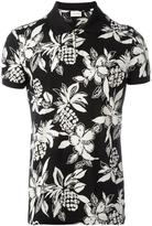 Saint Laurent Hawaiian hibiscus print polo shirt - men - Cotton - S