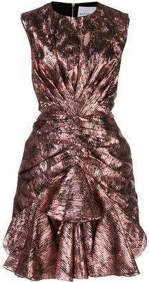 Halpern Metallic Sleeveless Dress
