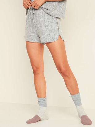Old Navy High-Waisted Plush-Knit Pajama Shorts for Women -- 3-inch inseam