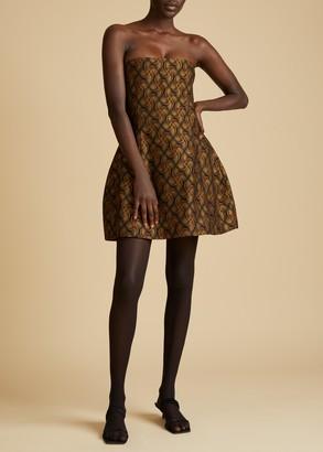 KHAITE The Ginger Dress in Gold Jacquard