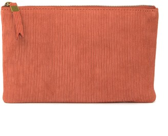 Madewell The Pouch Suede Corduroy Clutch