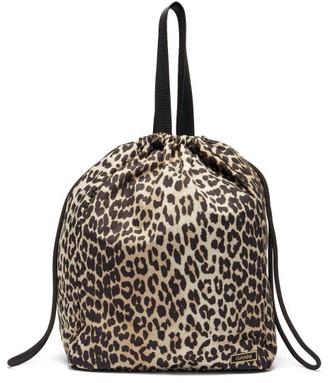 Ganni Leopard-print Recycled-fibre Shell Tote Bag - Leopard