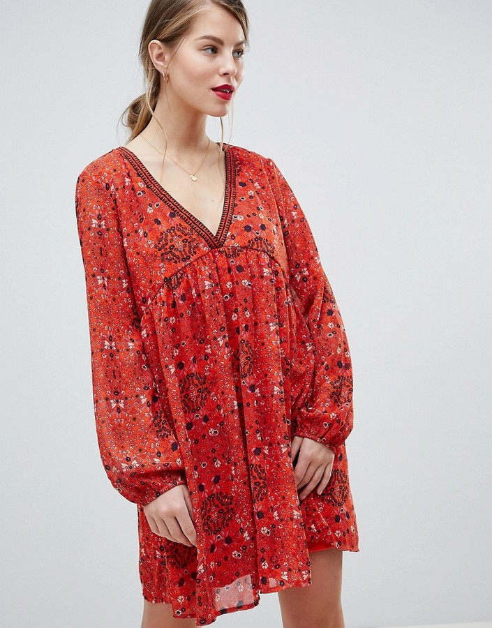 Vila Paisley Print Shift Dress