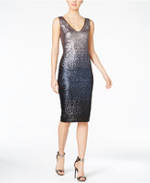 Rachel Roy Ombré Sequined Sheath Dress
