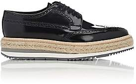 Prada Men's Wingtip Platform Bluchers - Black