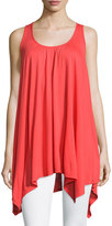 Neiman Marcus Strappy-Back Sleeveless Top, Red
