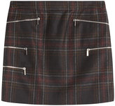 Barbara Bui Tartan Skirt with Zips