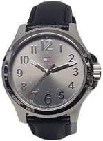 Tommy Hilfiger 1791150 Men's Grey Dial Black Leather Strap Watch