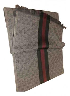 Gucci Grey Wool Scarves & pocket squares