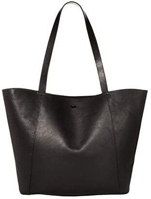 Madewell Tie Knot Tote Carryall (True Black) Handbags