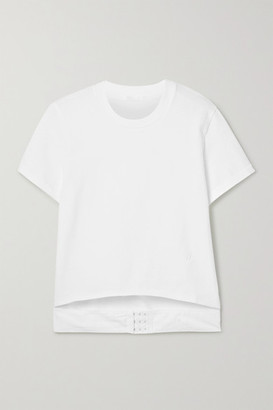 Helmut Lang Cutout Cotton-jersey T-shirt - White