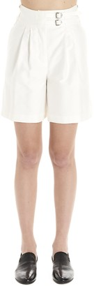 Lanvin Buckled High-Waisted Shorts