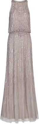 Adrianna Papell Beaded Blouson Gown