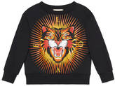 Gucci Children's sweatshirt with angry cat print