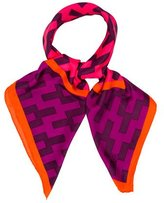 Jonathan Adler Silk Patterned Scarf