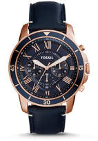 Fossil Grant Sport Chronograph Blue Leather Watch