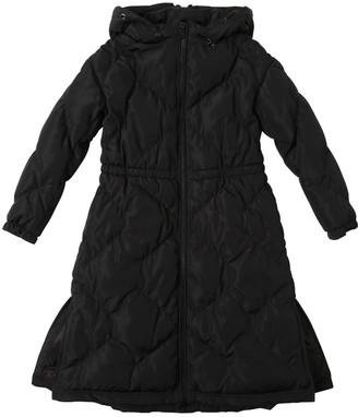 Emporio Armani Nylon Padded Coat W/ Flared Hem