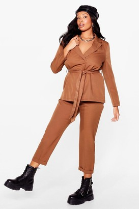 Nasty Gal Womens Suits You Plus Tapered trousers - Beige - 16