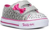 Skechers Toddler Girls' Twinkle Toes: Shuffles - Starlight Light-Up Velcro® Sneakers from Finish Line