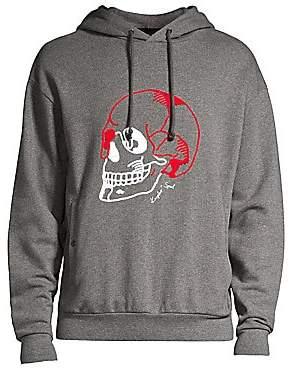 The Kooples Men's Embroidered Skull Hoodie