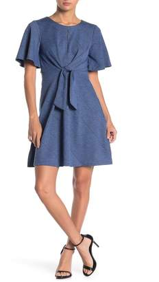 Spense Textured Keyhole Dress